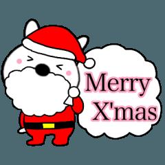 クリスマス サンタクロースうさぎ