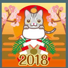 NEW YEAR 2018〜アメショーとアメ車