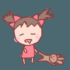 日常に使いやすいスタンプ(女の子編)