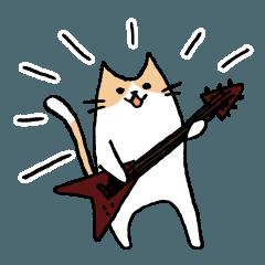 [V]ギタリストのためのギターねこスタンプ