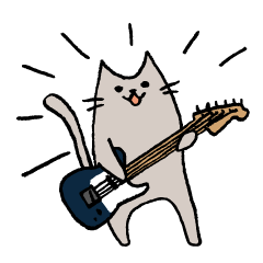 [TL]ギタリストのためのギターねこスタンプ