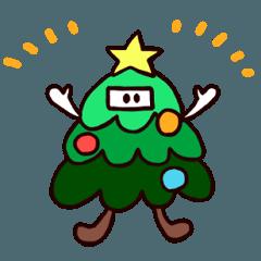 モミィ・ザ・ツリーのクリスマススタンプ
