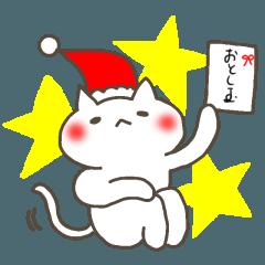 クリスマスの白猫サンタ2~年末年始まで☆