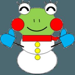 かえるさんの家族(クリスマス編)