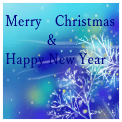 [LINEスタンプ] white christmas & happy new year.
