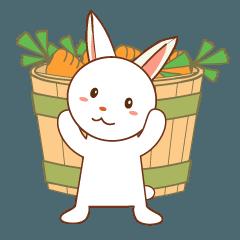 ウサギの日常会話スタンプ
