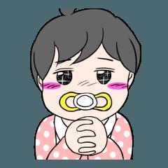 赤ちゃんの誘惑スタンプ