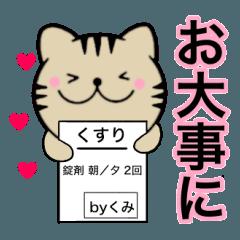 【くみ】が使う主婦が作ったデカ文字ネコ