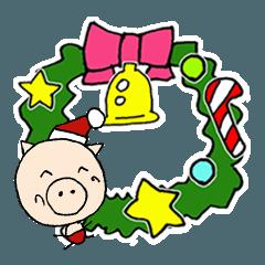 ぶ~吉と仲間たち クリスマスと新年の挨拶2