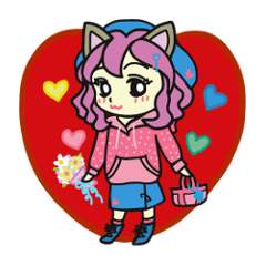 猫の女の子の日常