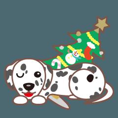 クリスマスと年末 〜ダルメシアンと車