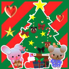 うさぎとくまの日々(クリスマス)