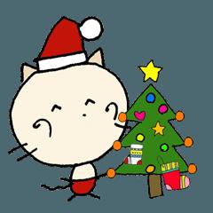 にゃん吉 冬の生活!クリスマス 新年の挨拶