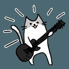 [LP]ギタリストのためのギターねこスタンプ