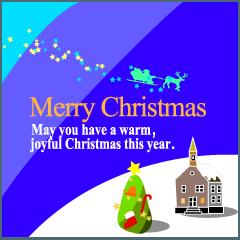 クリスマスグリーティングカード 01