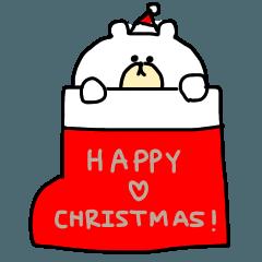 クリスマスお正月スタンプくまといぬ