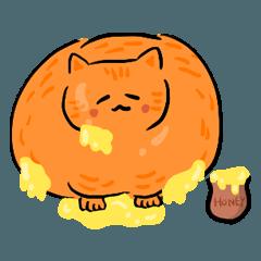 控えめな太った猫