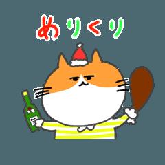 険しネコのクリスマス
