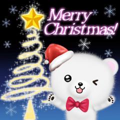 モフくまの可愛いクリスマス&正月スタンプ