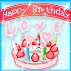 動く!おめでとう♥お祝い♥お誕生日