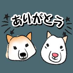 雑種の犬のスタンプ