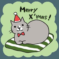 クリスマスのねこ氏