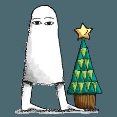 [LINEスタンプ] クリスマスバージョンのメジェド (1)