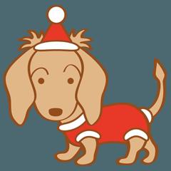 RinとRubyのクリスマススタンプ