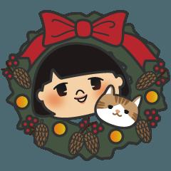 ウキウキクリスマススタンプ