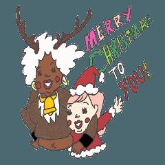 ザベとイルのクリスマス年末年始スタンプ