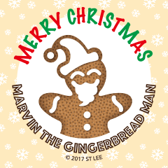 Marvin the Gingerbread Man - Merry X'mas