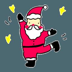 クリスマス 年末年始 アニマルスタンプ