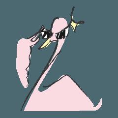 [LINEスタンプ] Mr.Flamingo