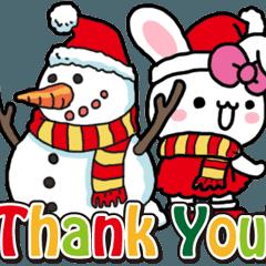 [LINEスタンプ] 女子ウサ 9 メリークリスマス