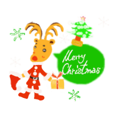 Sticker of merry Christmas