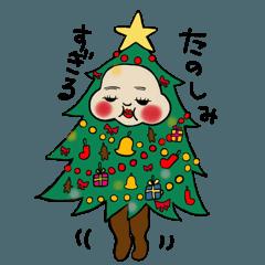 着ぐるみウサモ子funnyちゃんのXmas2017