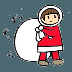 クマと娘の年末年始 / クリスマスとお正月
