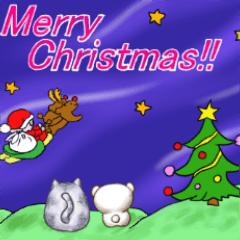 福ちゃんとシャイくまちゃんのクリスマス