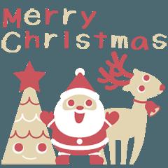 北欧風のクリスマススタンプ