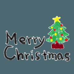 クリスマスと新年に使えるスタンプ