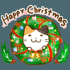猫★冬のごあいさつ【Xmas〜年末年始】
