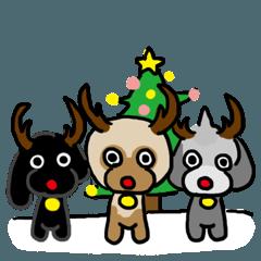 プードルファミリーのクリスマス 冬