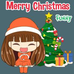 [LINEスタンプ] Christmas Cute Girl