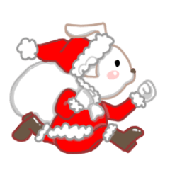 クリスマスと正月に使えるうさぎハート