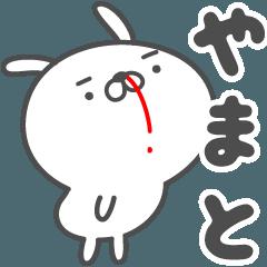 [LINEスタンプ] あおいぷん★やまと★専用うさぎ☆鼻血