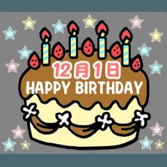 12月の誕生日ケーキ
