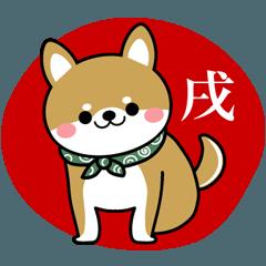 豆柴の毎日使えるスタンプ【柴犬の日常】