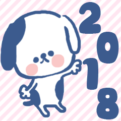 New Year's sticker【2018】