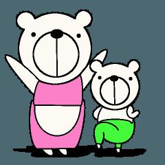 シロクマ親子の日常