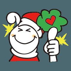 [LINEスタンプ] くるくるくる頭Ⅲクリスマス (1)